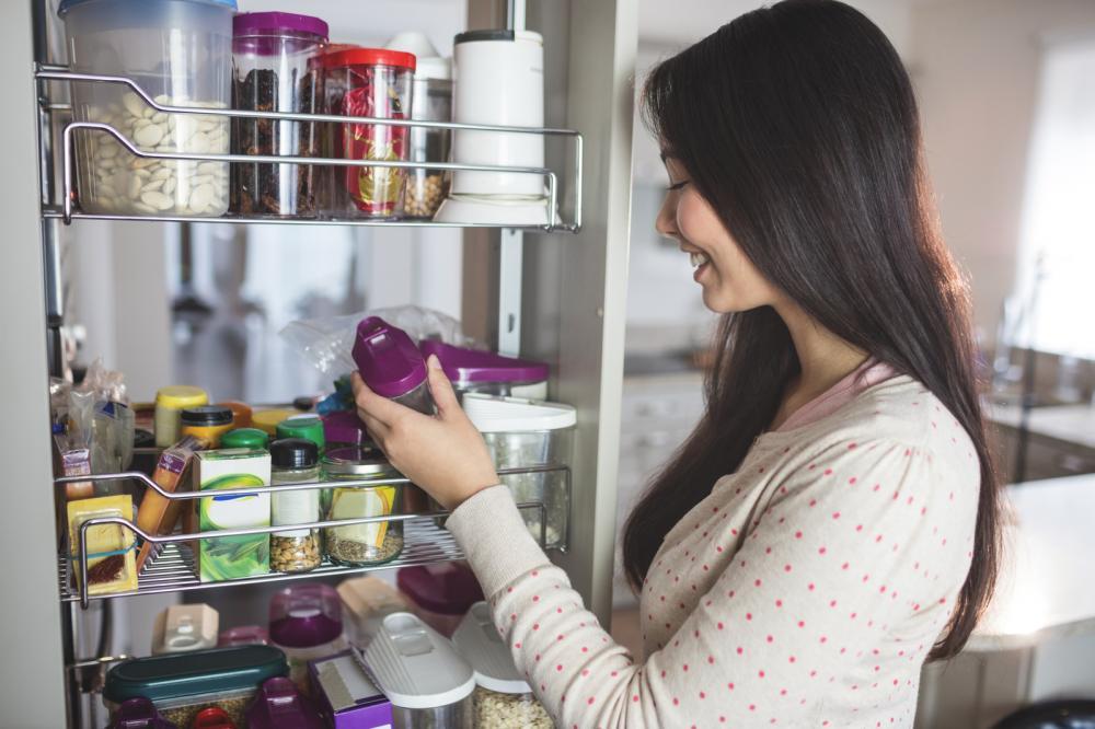woman-food-storage-room