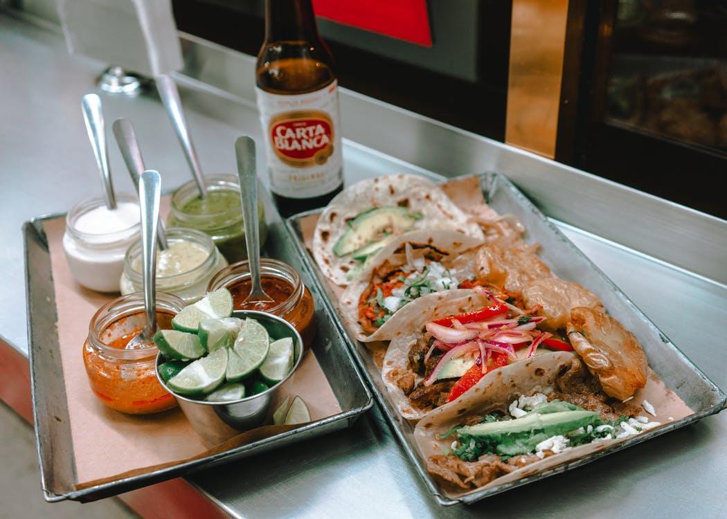 Food prepared in a restaurant